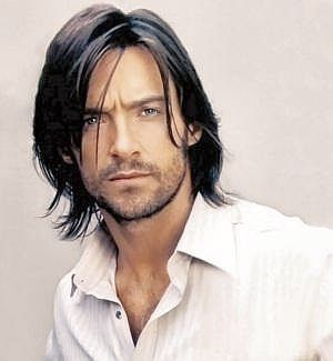 Young Hugh Jackman (but with grey eyes)
